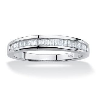 3/8 TCW Baguette Diamond Ring in 10k White Gold