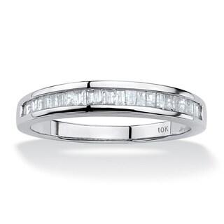 3/8 TCW Baguette Diamond Ring in 10k White Gold