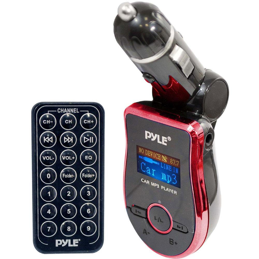 Pyle Mobile SD/ USB/ MP3/ AUX FM Red Transmitter