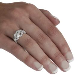 Journee Sterling Silver Four-piece Puzzle Ring - Thumbnail 2