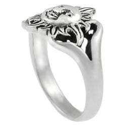 Journee Collection  Sterling Silver Sun Face Ring - Thumbnail 1