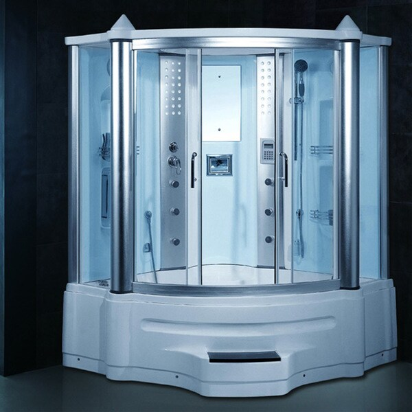 Gemini Steam Shower Whirlpool Tub Combo With Lcd Tv