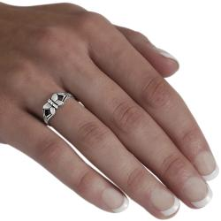 Journee Sterling Silver Butterfly Ring - Thumbnail 2