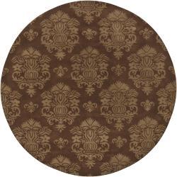 Artist's Loom Hand-tufted Transitional Oriental Wool Rug (7'9 Round)