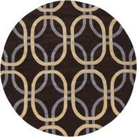 Artist's Loom Hand-tufted Contemporary Geometric Wool Rug - 7'9