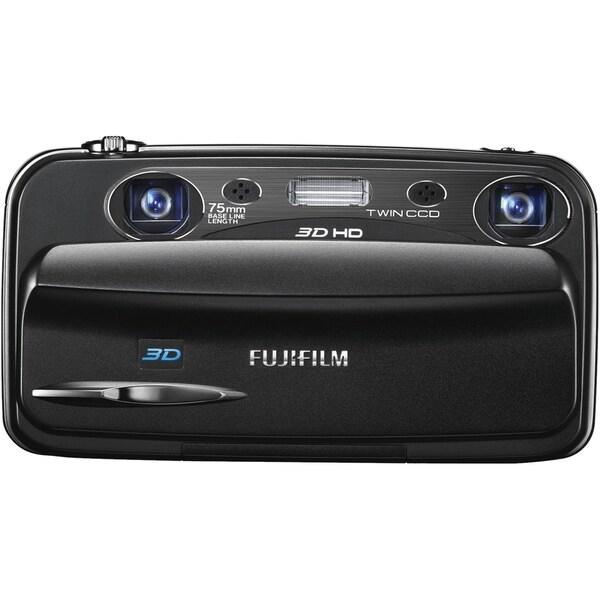Fujifilm FinePix W3 10 Megapixel 3D Compact Camera - Black