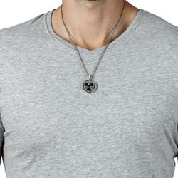 Pewter Nuclear Symbol Necklace