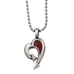 Bico Australia Silvertone Pewter Red Seeds Necklace