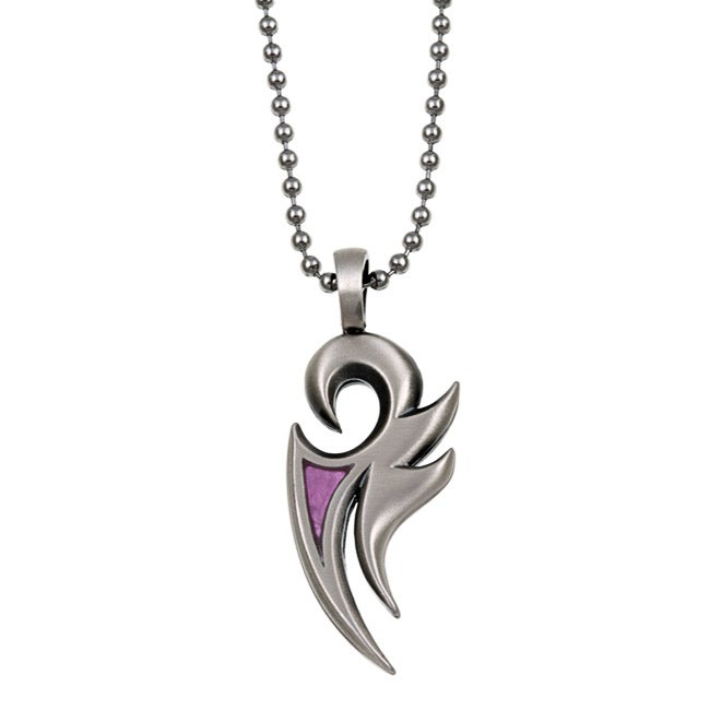 Bico Australia Pewter And Pink Resin Phoenix Necklace