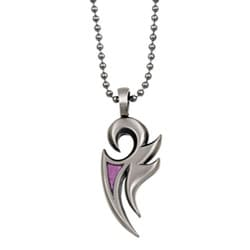 Bico Australia Pewter and Pink Resin 'Phoenix' Necklace