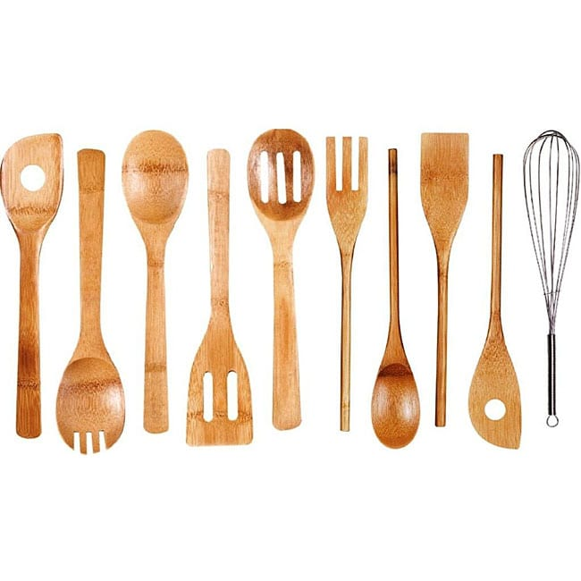 Bamboo Kitchen Tool 10-piece Set