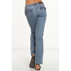 Rue Blue Women's St. Tropez Wash Straight Leg Jeans