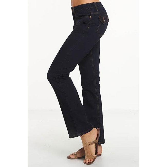 Rue Blue Women's Dark Wash Straight Leg Jeans