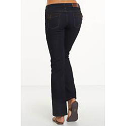 Rue Blue Women's Dark Wash Straight Leg Jeans - Thumbnail 1