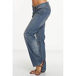 Rue Blue Women's Distressed Boyfriend Jeans - Free Shipping Today ...