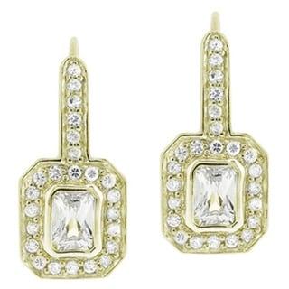 Icz Stonez Sterling Silver Cubic Zirconia Leverback Earrings