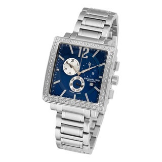 Stuhrling Original Men's Diamond Chronograph Watch