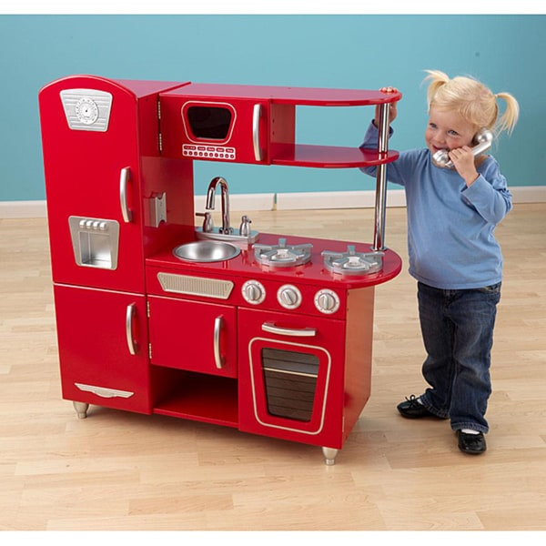 Vintage Kitchen By Kidkraft: Shop KidKraft Red Vintage Kitchen
