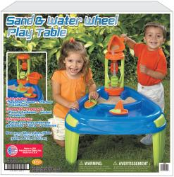 American Plastic Toy Sand and Water Wheel Play Table - Thumbnail 1