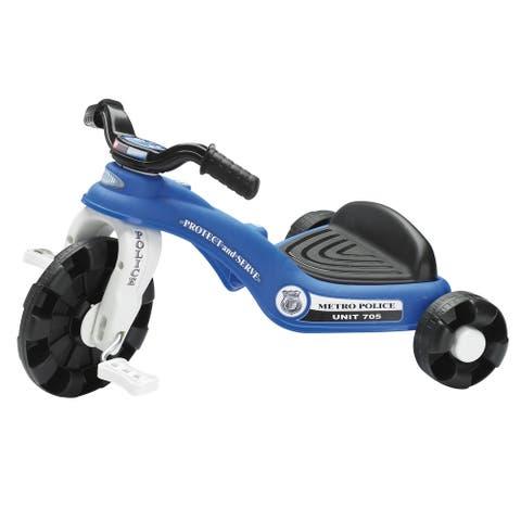 American Plastic Toys Kids Police Trike - Blue