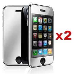 INSTEN Mirror Screen Protector for Apple iPhone 3G/ 3GS (Pack of 2) - Thumbnail 2