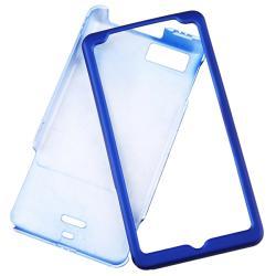 INSTEN Dark Blue Rubber Coated Phone Case Cover for Motorola Droid X/ Droid X2 Daytona - Thumbnail 1