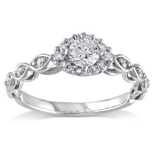 Miadora 1/2 CT  Diamond TW Fashion Ring  10k White Gold GH I2;I3