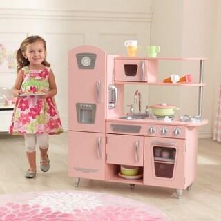 KidKraft Retro Kitchen And Refrigerator Free Shipping Today - Kidkraft pink retro kitchen and refrigerator 53160