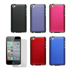 Premium Apple iPod Touch 4th Generation Rubberized Case with Screen Guard - Thumbnail 1