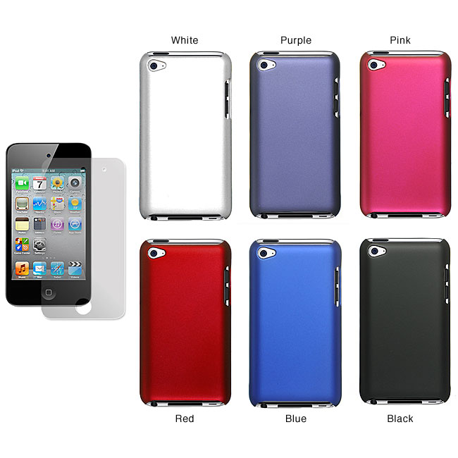 Premium Apple iPod Touch 4th Generation Rubberized Case with Screen Guard