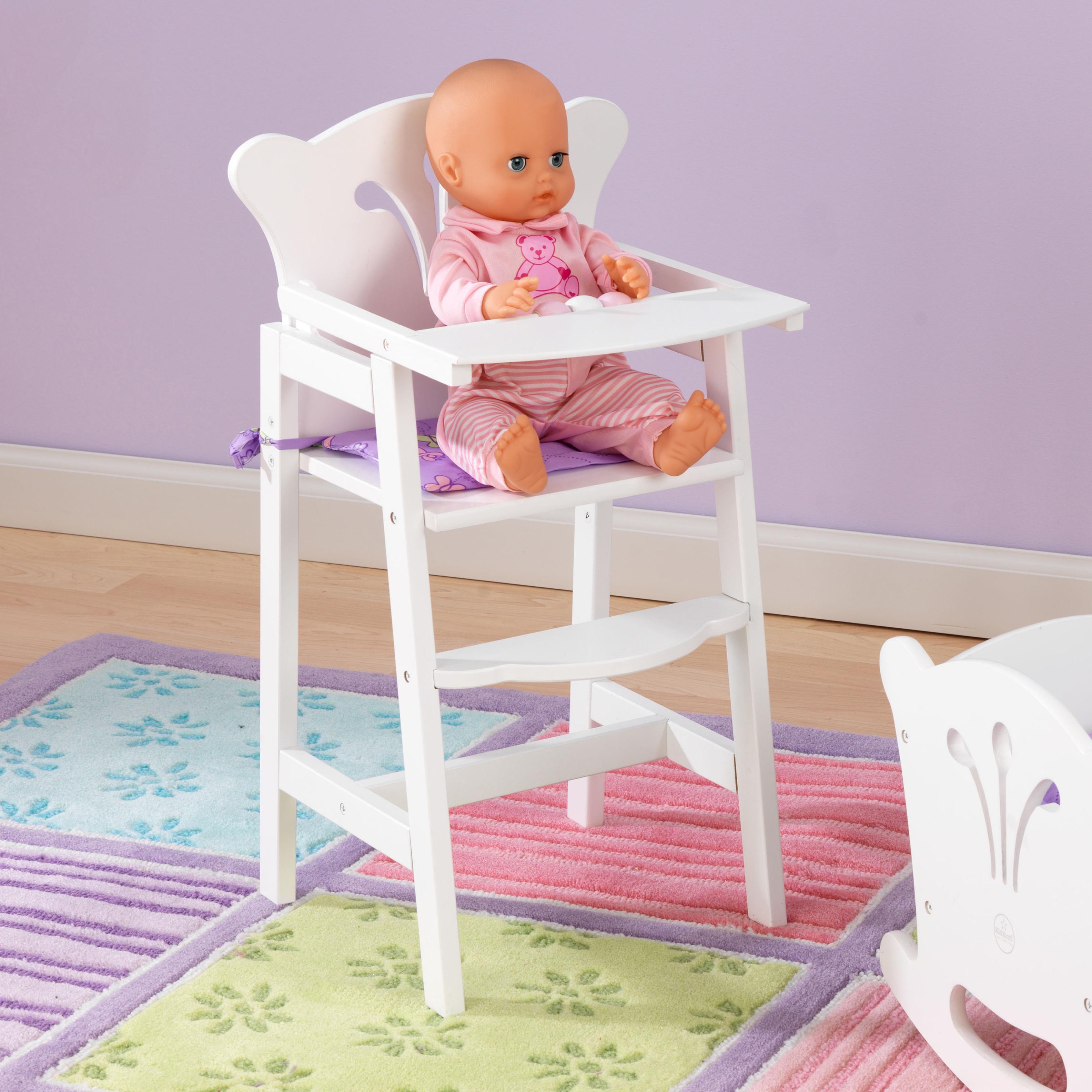Kid Kraft Lil Doll High Chair (Lil Doll High Chair), White