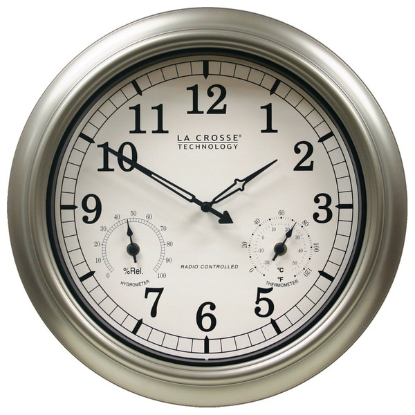 Shop La Crosse 18 Inch Atomic Outdoor Clock Free