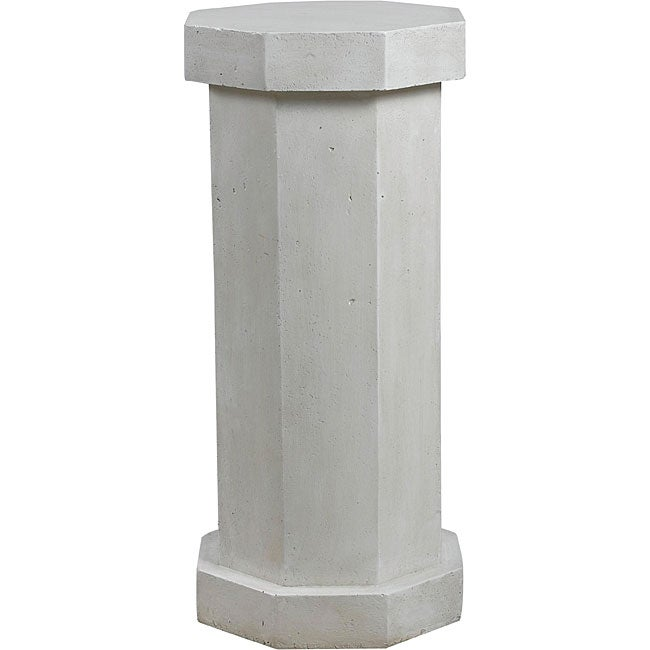 Bindy Roman White Outdoor Pedestal
