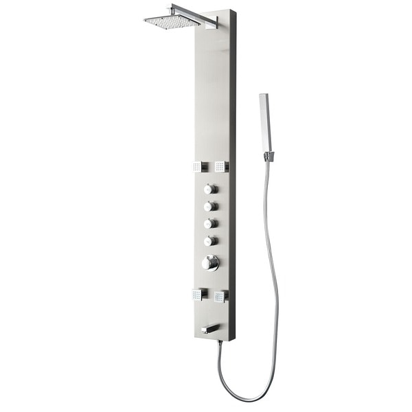 Fresca Pavia Silver Thermostatic Shower Massage Panel