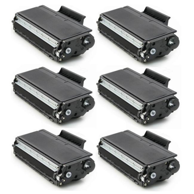 Brother TN550, TN580 Compatible Black Toner Cartridge (Pack of 6)