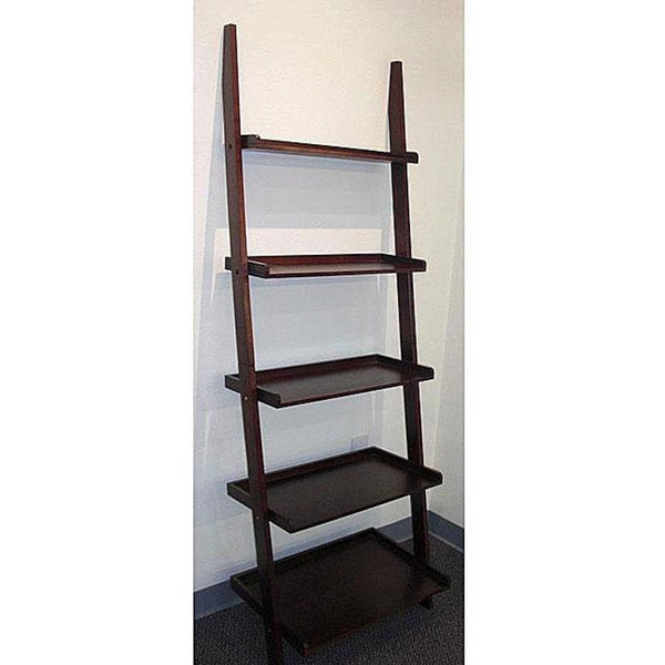 Shop Cappuccino Five Tier Leaning Ladder Shelf Free