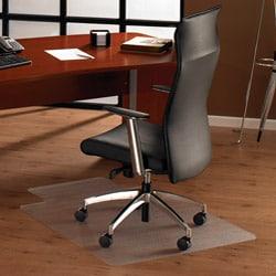 Floortex Cleartex Ultimat Chair Mat. with Lip (48 x 53) for Hard Floor