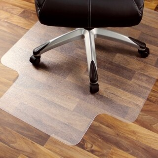 """Cleartex Ultimat Chair Mat Rectangular With Lip Clear Polycarbonate For Hard Floor Size 48"""" x 53"""""""