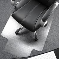 "Cleartex Ultimat Chair Mat | Clear Polycarbonate | Rectangular with Lip | Size 48"" x 53"""