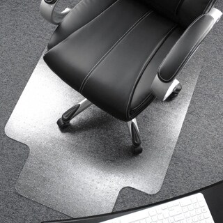 """Cleartex Ultimat Chair Mat Clear Polycarbonate Rectangular with Lip Size 48"""" x 53"""""""