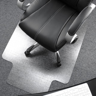 Cleartex Lipped Polycarbonate Chairmat for Carpet  Size 48 x 53