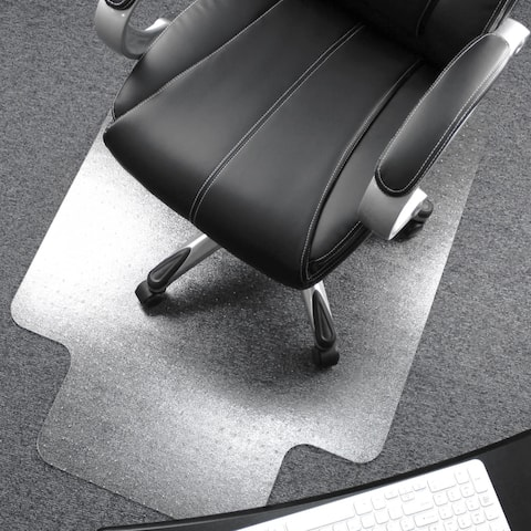 "Ultimat® Polycarbonate Lipped Chair Mat for Carpets up to 1/2"" - 48 x 53"""