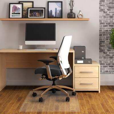 "FloorTex Vinyl Chair mat for Hard Floor & Tile - Rectangular Size 48"" x 60"""