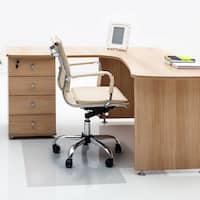 "Cleartex Advantagemat | PVC Clear Chair Mat | for hard floor | Rectangular with Lip | Size 36"" x 48"""