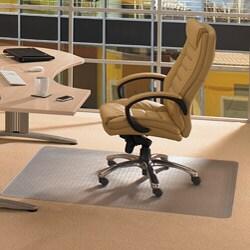 "Floortex Cleartex Advantagemat PVC Protection Chair Mat (46"" x 60"") for Carpet"