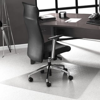 Cleartex Advantagemat PVC Corner Workstation Chairmat for Medium Pile Carpets 3/4 or less (48 X 60)
