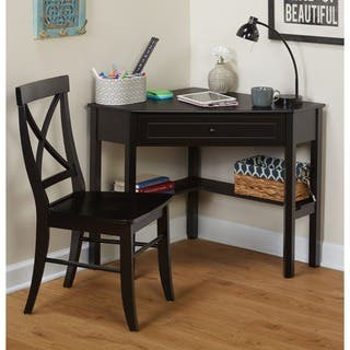 Simple Living Black Corner Desk and Crossback Chair 2-piece Study Set|https://ak1.ostkcdn.com/images/products/5274399/P13090070.jpg?impolicy=medium