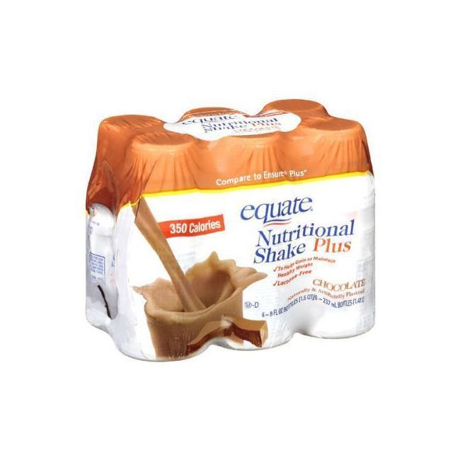Shop Black Friday Deals On Equate Nutritional Plus Chocolate 350 Calorie 6 Count Shakes Pack Of 4 Overstock 5274417
