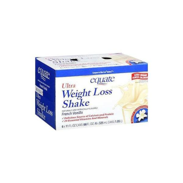 Equate Ultra Weight Loss 6-ounce French Vanilla 11-ounce Shakes (Pack of 2)