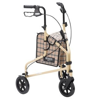Drive Medical Winnie Lite Supreme 3 Wheel Rollator Rolling Walker - Tan Plaid